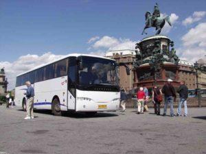 Автобус в Санкт-Петербруг