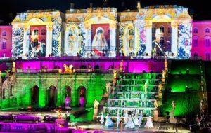 Шоу закрытия фонтанов в Петергофе 2016