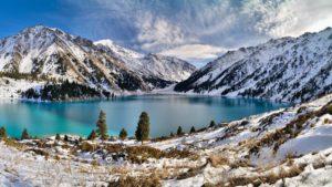 озеро Рица Зимой Абхазия