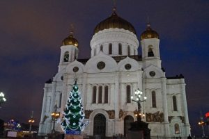 храм христа спасителя москва зима
